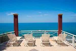 Corfu hotel terrace sundeck